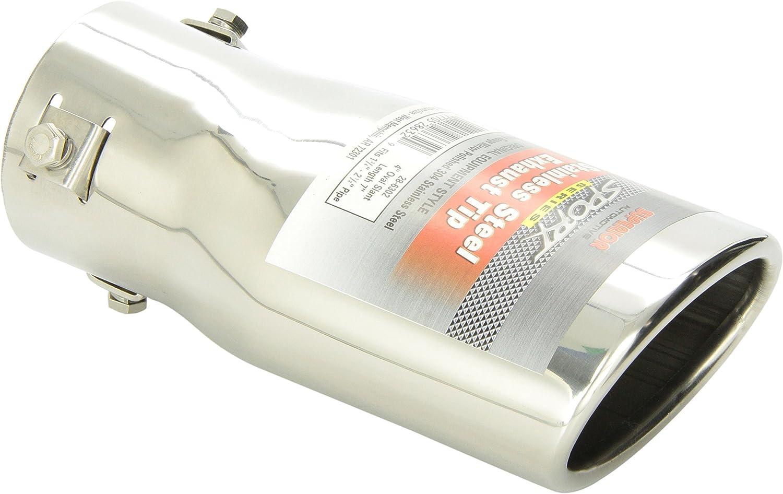 "Inlet 2.5/"" Custom Slant Round Exhaust Tips *NEW* Formed Steel Side Pipe Dump"