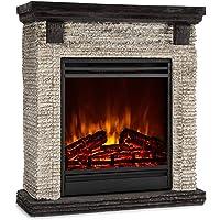 Klarstein Etna - Chimenea eléctrica, Imitación realista de llamas, Potencia de 2 niveles, Temporizador, OpenWindow…