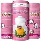 Teabloom Rose Flowering Tea – 12 Hand Tied Blooming Tea Flowers – 36 Steeps, Makes 250 Cups – Romantic Rose Tea Gift Set…