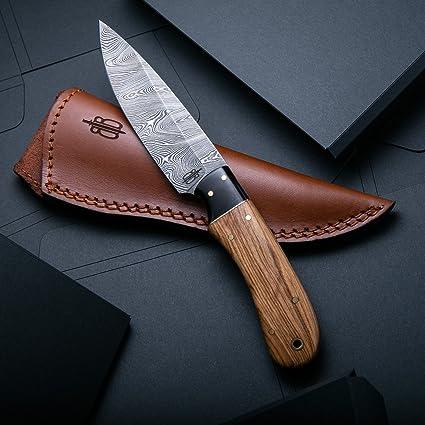 Amazon.com: BucknBear - Cuchillo de caza, de acero de ...