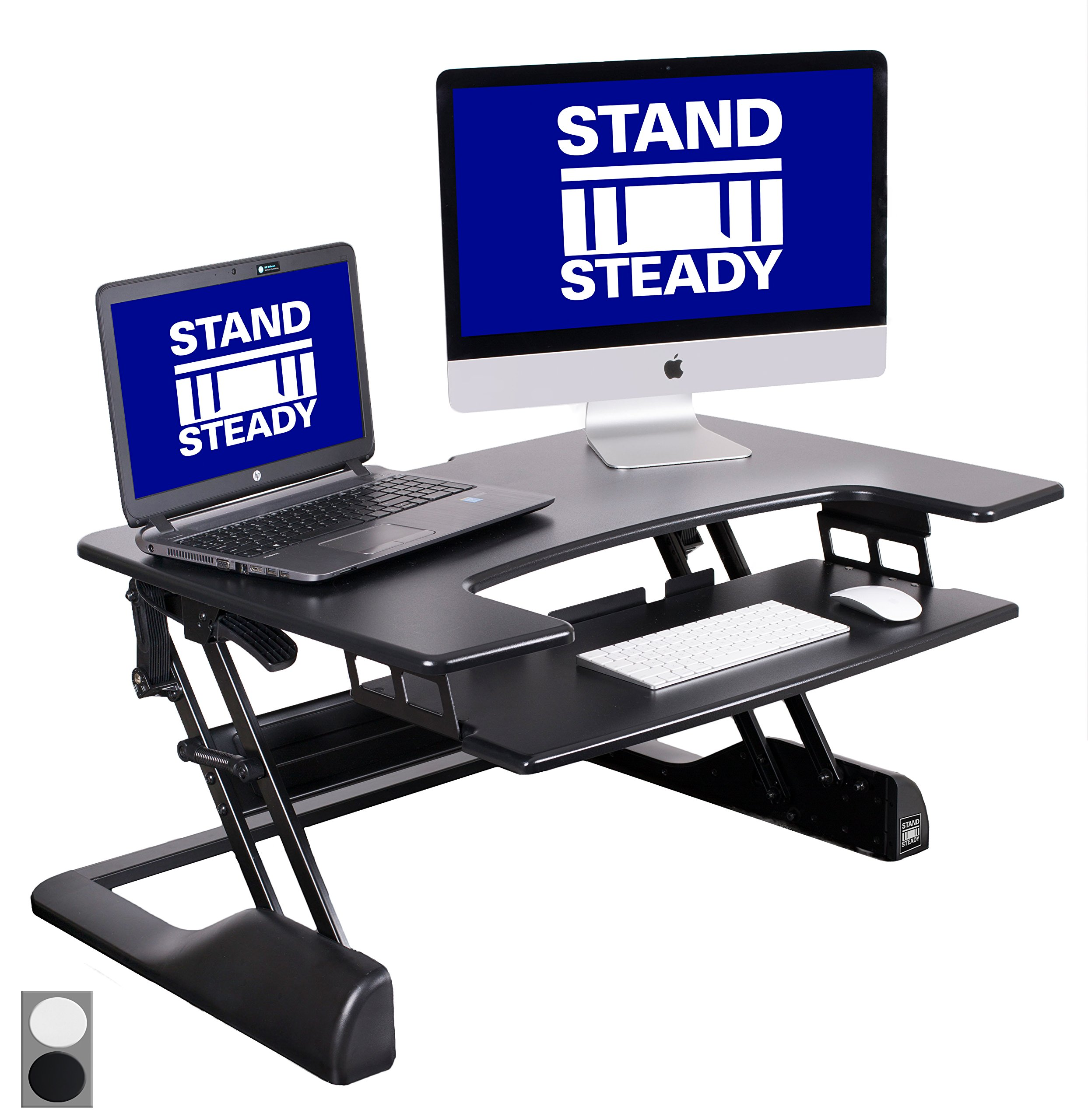 """FlexPro Precision 35"""" Standing Desk from Award-Winning Stand Steady + FREE Standing Desk Wellness Guide! 