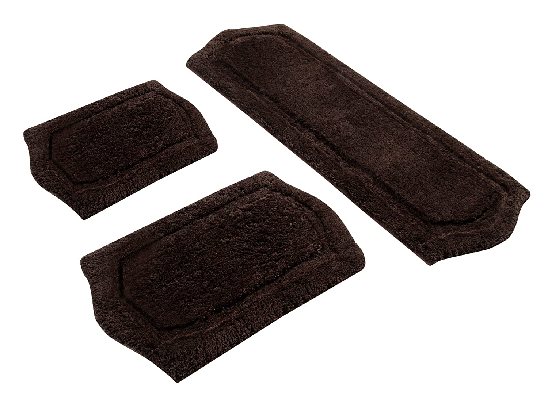 Charmant Amazon.com: Chesapeake Merchandising 3 Piece Paradise Memory Foam Bath Rug  Set, Chocolate: Home U0026 Kitchen