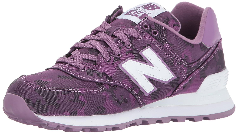 New Balance Women's 574 Camo Pack Lifestyle Fashion Sneaker B01M0A3M0X 9.5 B(M) US|Kite Purple/White