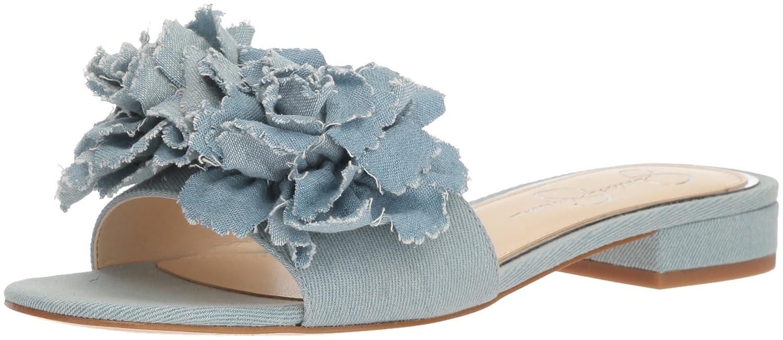Jessica Simpson Women's Caralin Slide Sandal B078J9SMYB 5.5 B(M) US Vintage Blue