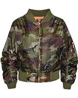 A2Z 4 Kids® Kids Jacket Girls Boys Camouflage Print Bomber Padded Zip Up Biker Jacktes MA 1 Coat New Age 3 4 5 6 7 8 9 10 11 12 13 Years