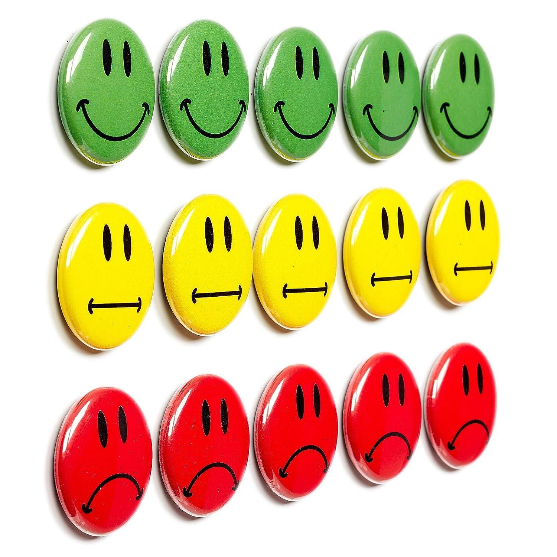 15 boutons multicolores Aimants Motif smiley (aimant)/Diamè tre 2,5 cm/par exemple pour praese ntationen, cours, projet travail, formations.. 5cm/par exemple pour praese ntationen Iposit GmbH