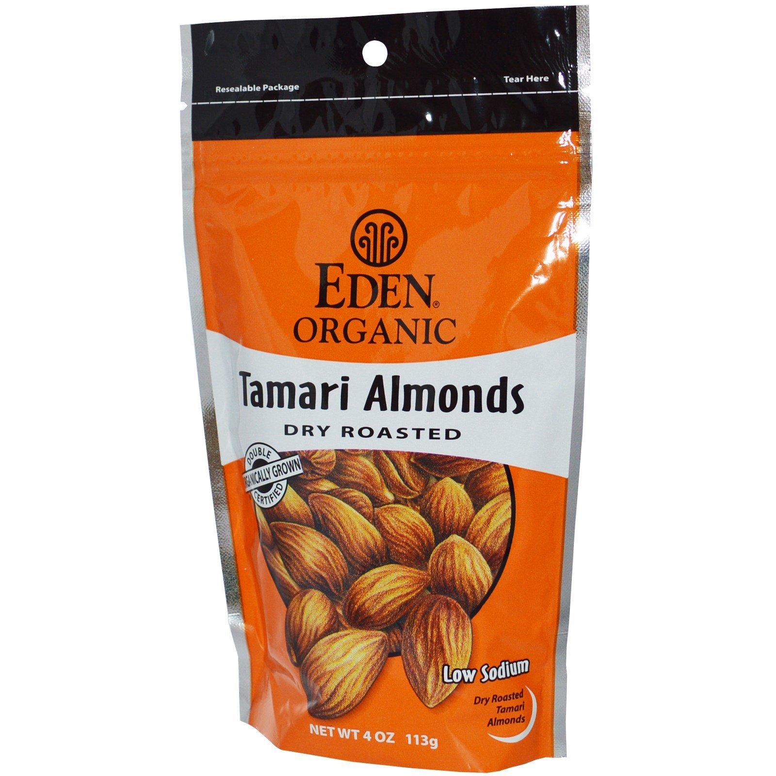 Tamari Almonds Eden Organic 4 oz Bag