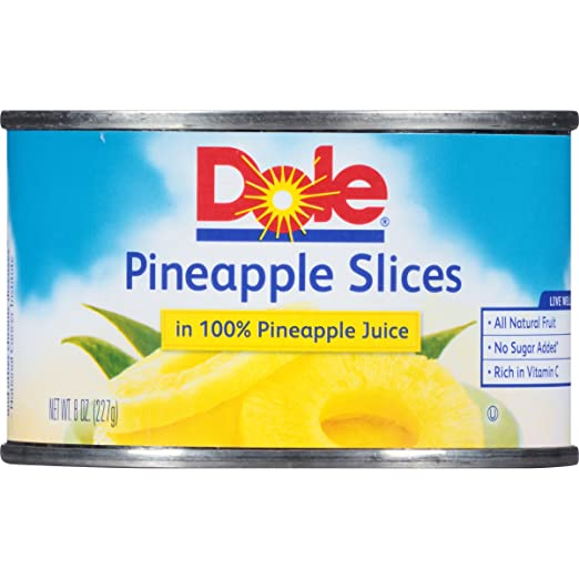 DOLE Pineapple Slices in 100% Pineapple Juice 8 oz. Can