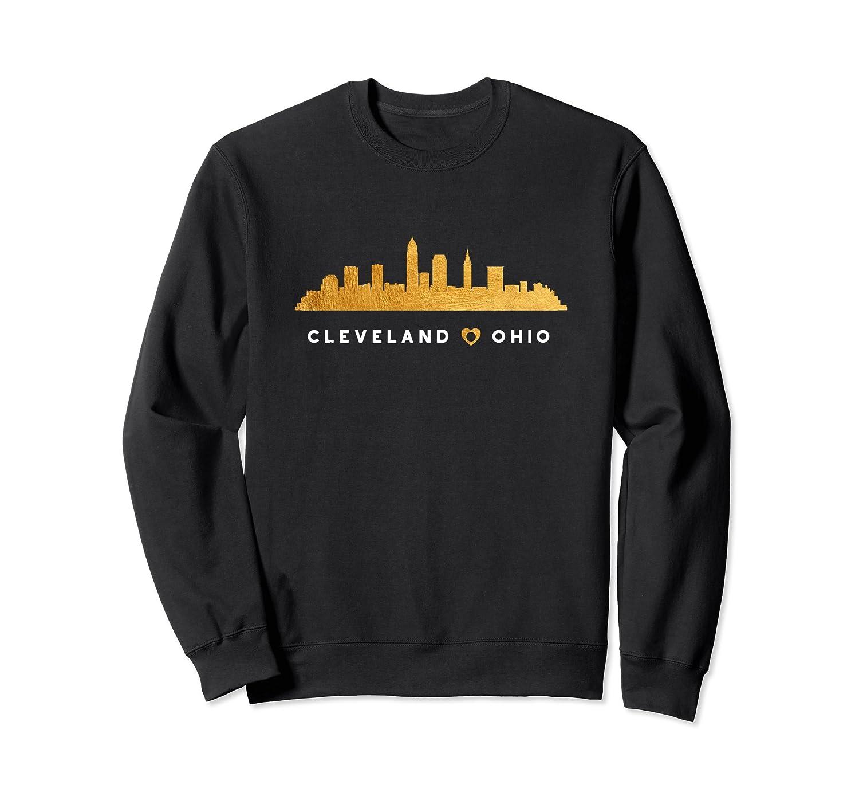 Cleveland Skyline Architecture City Gift Art Sweatshirt-mt