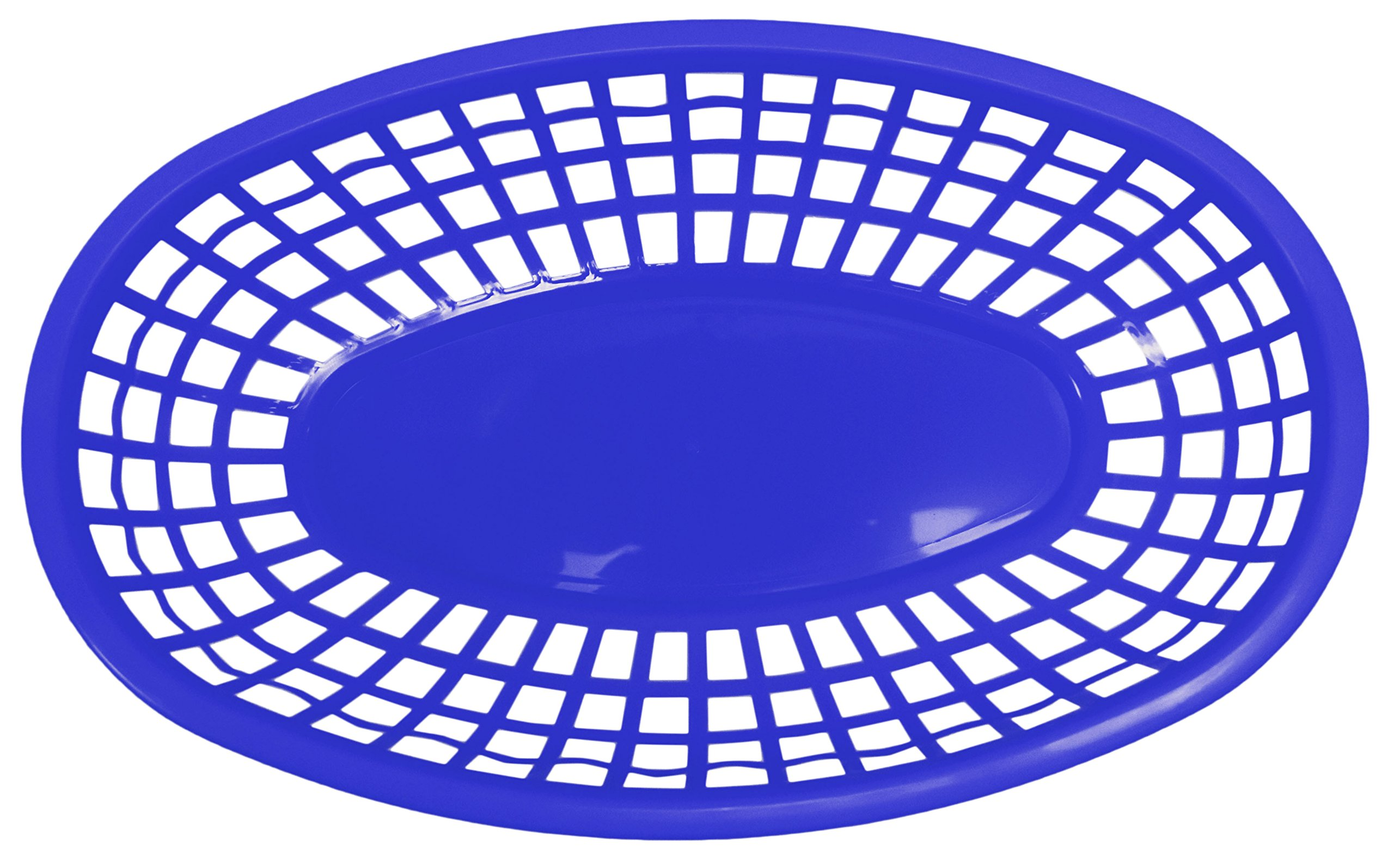 Set of 12 Blue Oval Fast Food / Deli Baskets, 9.25 by 5.67-Inch, Blue (12) by Regent (Image #3)