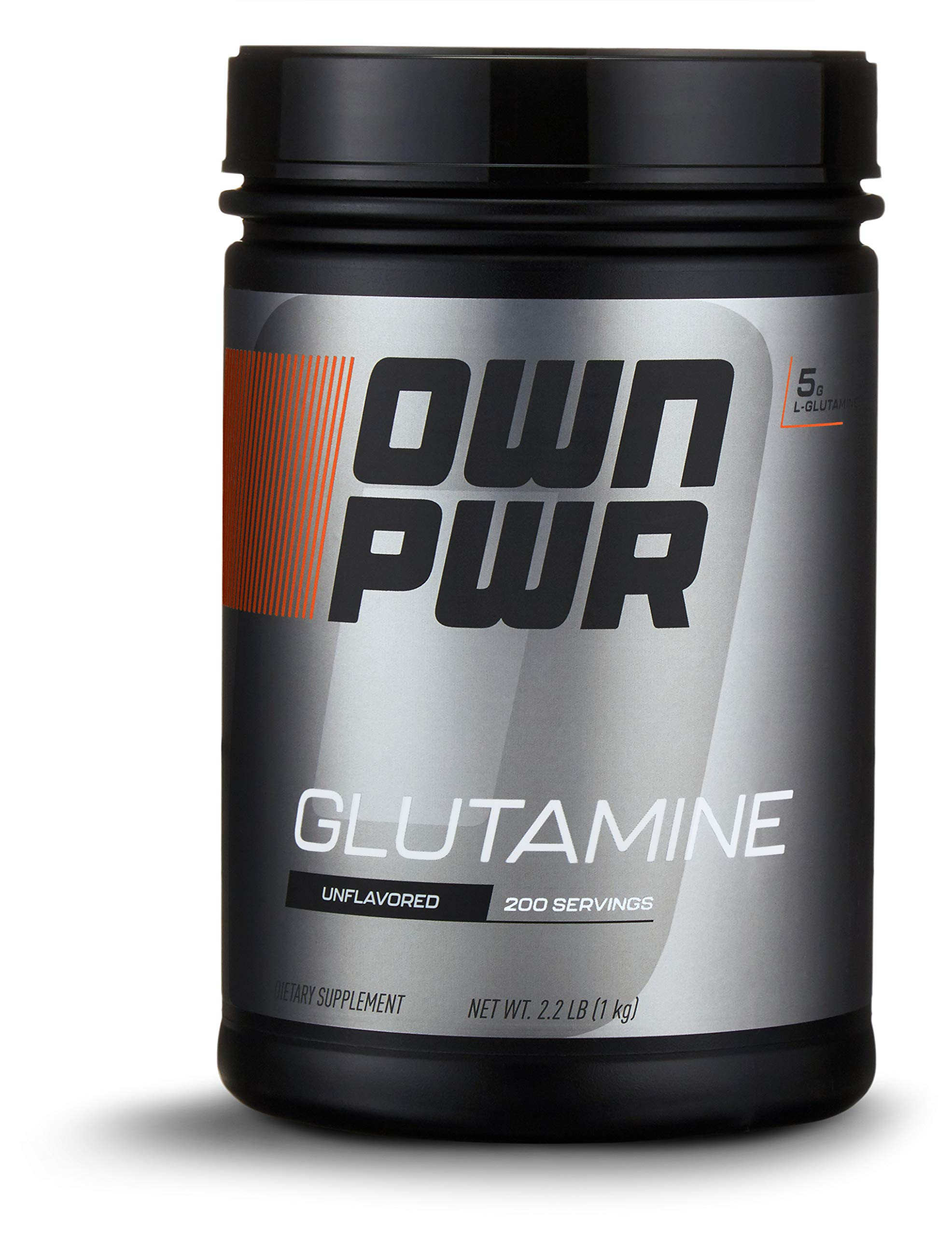 OWN PWR L-Glutamine Powder, 5G per Serving, Unflavored, 2.2 Pound Value Size (200 Servings) by OWN PWR