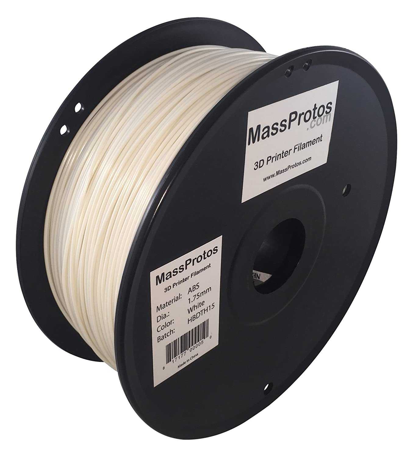 Amazon.com: MassProtos ABS-175-W 3D Printer Filament, ABS, 1.75 mm,, +/- 0.05 mm, White: Industrial & Scientific