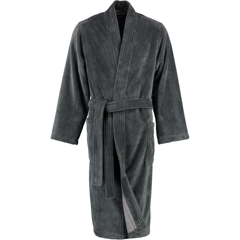Lago - Herren Velours Bademantel mit Kimono Form in verschiedenen Farbtönen (800/LG807/GG808)