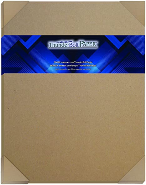 Photo|Card|Frame Size .060 Caliper Extra X Heavy Cardboard as Thick as 15 Sheets 20# Paper 5X7 Inches 50 Sheets Brown//Gray Chipboard 60 Point Extra Thick 5 X 7