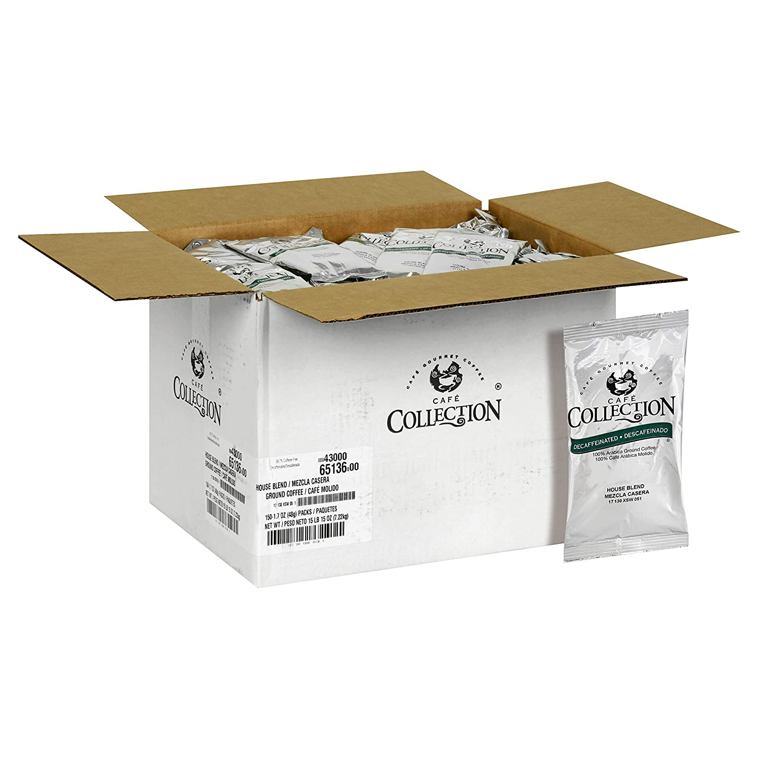 Amazon.com : Cafe Collection Ground Coffee, House Blend, 1.7 Ounce (Pack of 150) : Grocery & Gourmet Food