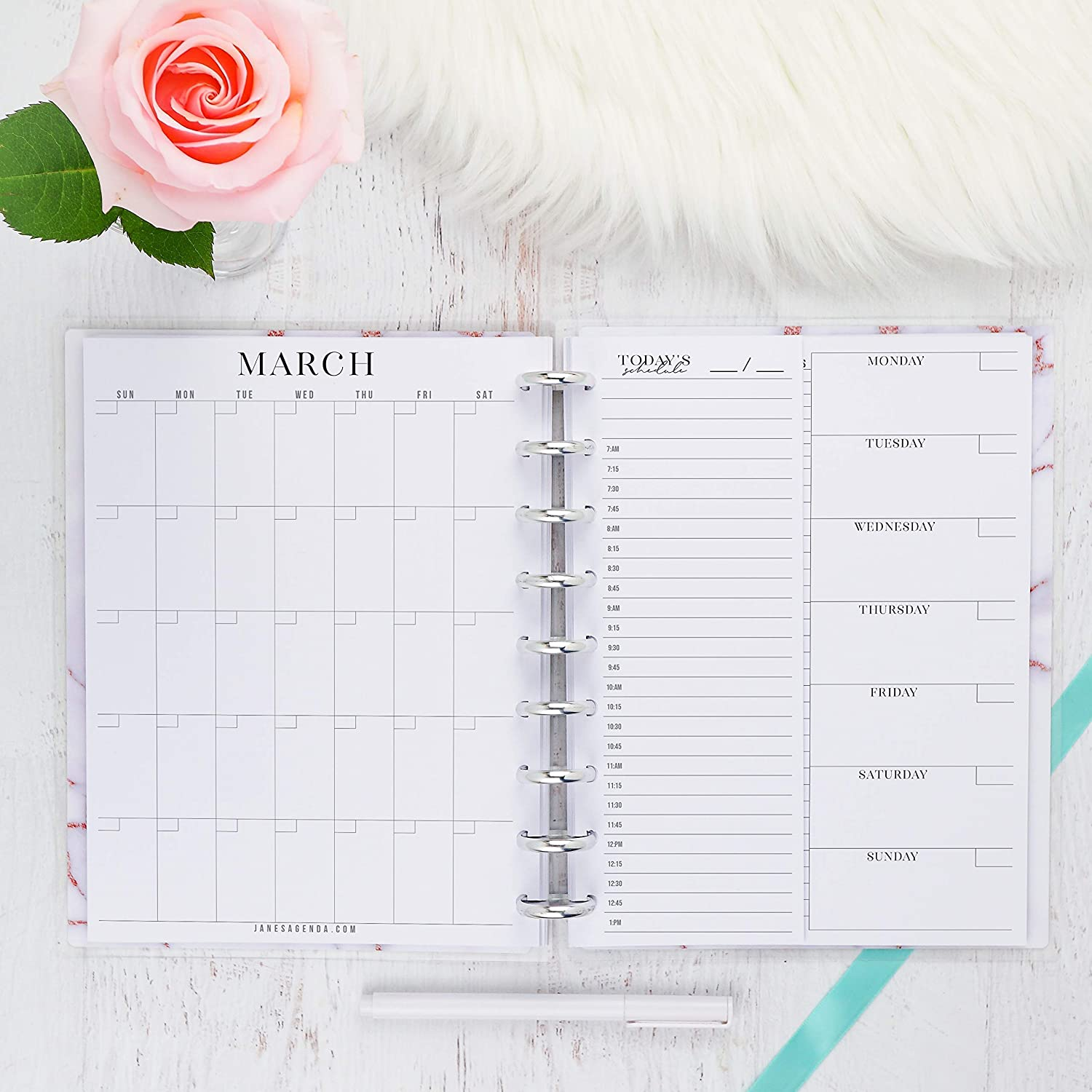 image regarding Daily Planner Page named : Regular monthly Weekly Day by day Planner Inserts Fastened