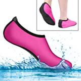 MiaoMa Water Socks for Womens,Mans and Kids,Quick-Dry Aqua Socks,Fit for Beach Volleyball,Swim,Surfing Yoga,etc.L (AU 6-7) Pink …