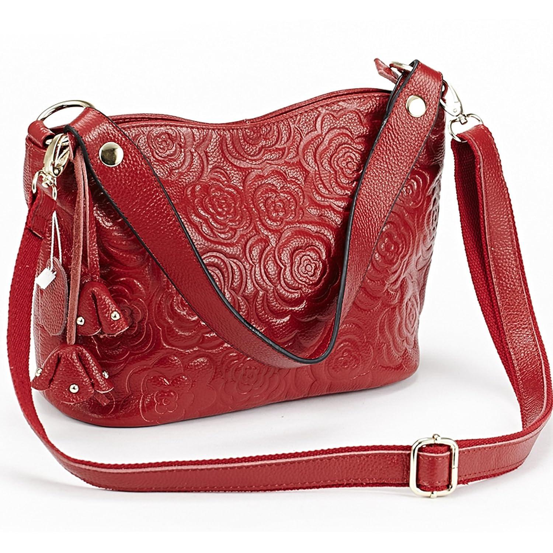 Amazon.com: Para mujer bolsas de hombro de piel en relieve ...
