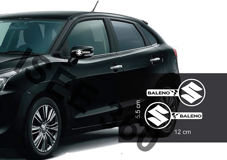 Isee 360 Suzuki Baleno Sticker For Car Exterior Rear View Mirror Door Sides White Decals L X H 12 X 5 5 Cms Pack Of 2 Amazon In Car Motorbike [ 1061 x 1500 Pixel ]