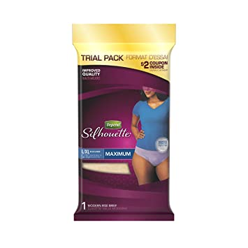 Depend Silhouette Incontinence Underwear for Women, Maximum Absorbency, Purple, 1 Count