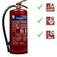 Smartwares 10.014.72 (BB6) Extintor-6kg Polvo seco Resistencia al Fuego ABC