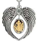 Angel Wings Locket I Love You Charm Necklace Photo Pendant Fashion Jewelry 2 Chain Pouch for Gift