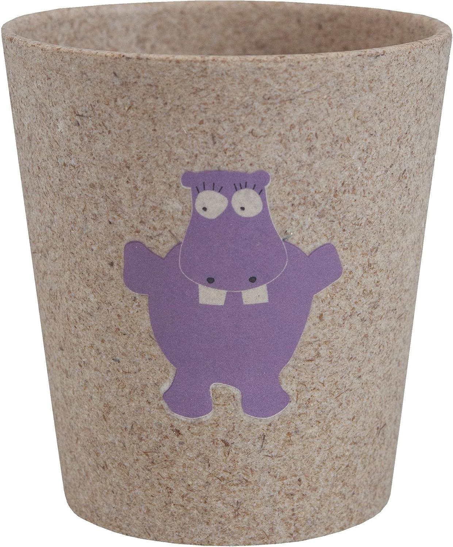 JACK N 'JILL - Gobelet à dents - Avec design de Hippopotame - Pour les enfants - Hygiénique et biodégradable - Fabriqué avec des coques de bambou et de riz Yumi Bio Shop