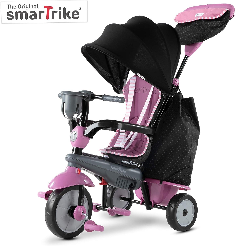 SMARTRIKE Swirl Triciclo de bebé 4 en 1, Gris Rosa, Color Pink Grey (6502202)