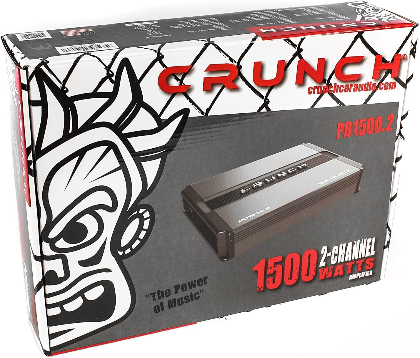 Crunch Power Drive PD1100.2 Bridgeable Amplifier 1,100 Watts Max, Class Ab 2-Channel