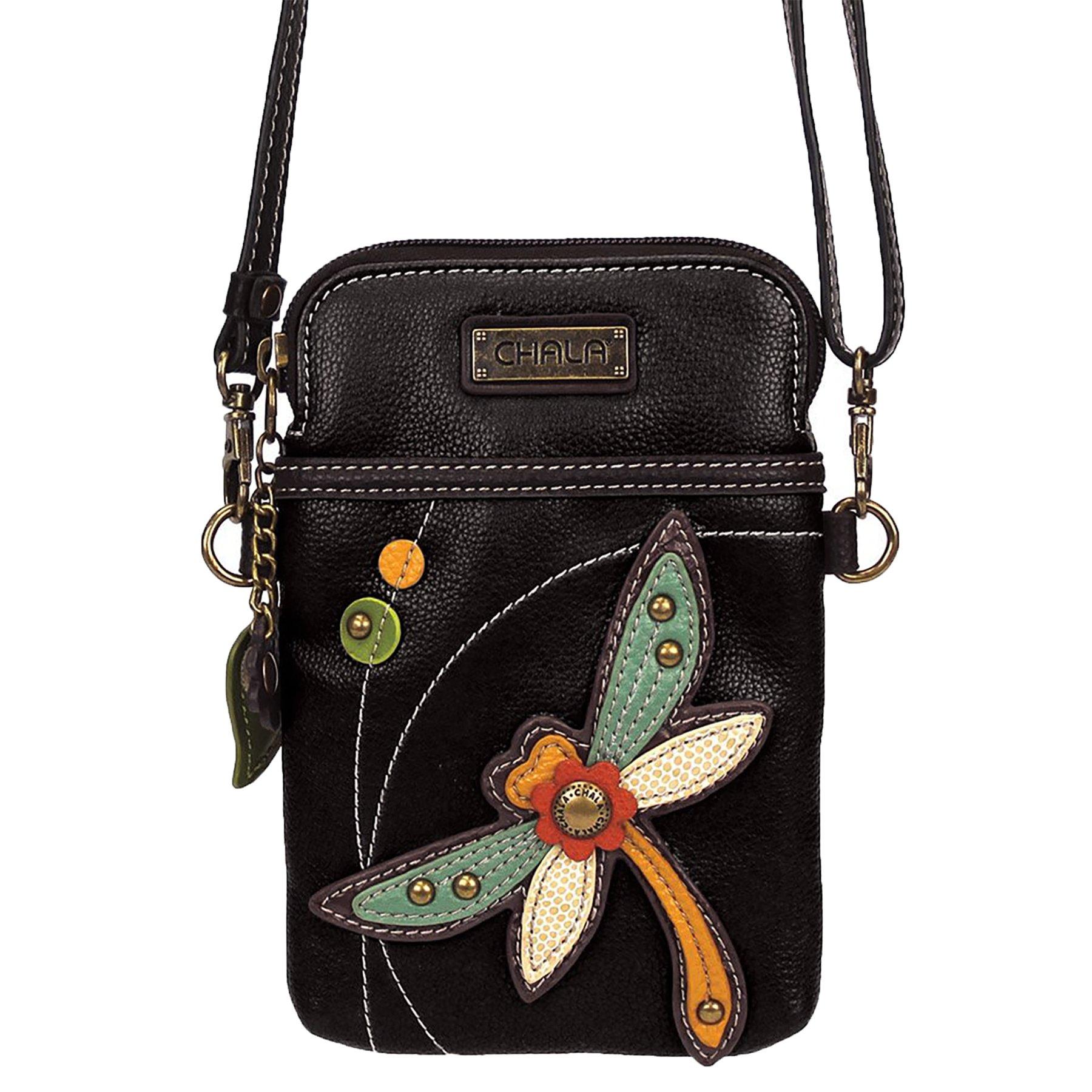 f19c0a7353c Chala Crossbody Cell Phone Purse - Women PU Leather Multicolor Handbag with  Adjustable Strap