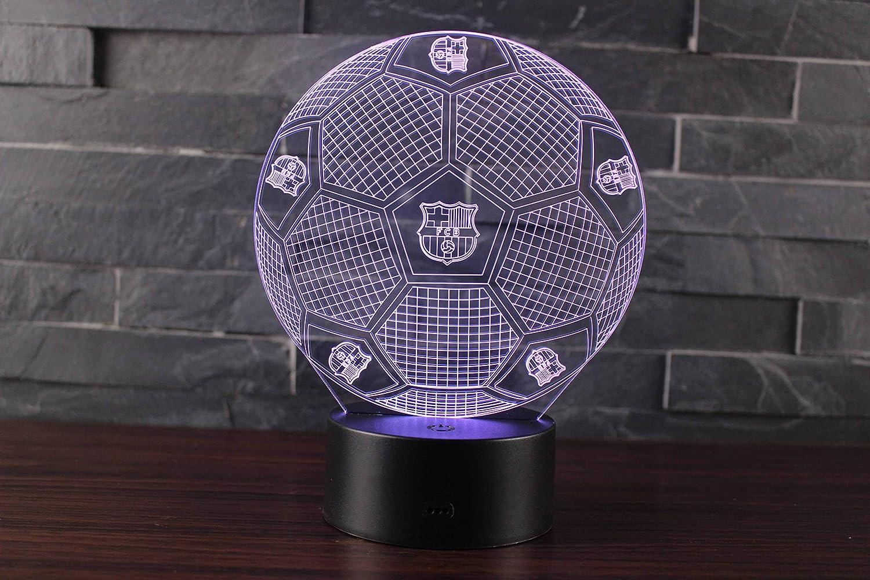 3D Lámpara de Escritorio Mesa 7 cambiar el color botón táctil de escritorio del USB LED lámpara de tabla ligera para el Hogar Decoración Niños