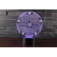 Ray-Velocity 3D Lámpara de Escritorio Mesa 7 cambiar el color botón táctil de escritorio del USB LED lámpara de tabla…