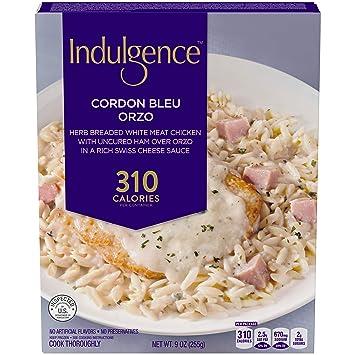 Indulgence Chicken Cordon Bleu Orzo 9 Oz Box Amazon Grocery
