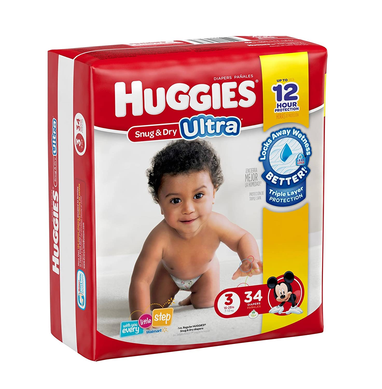 Amazon.com : HUGGIES Snug & Dry ULTRA Diapers, Jumbo Pack (size 3) : Everything Else