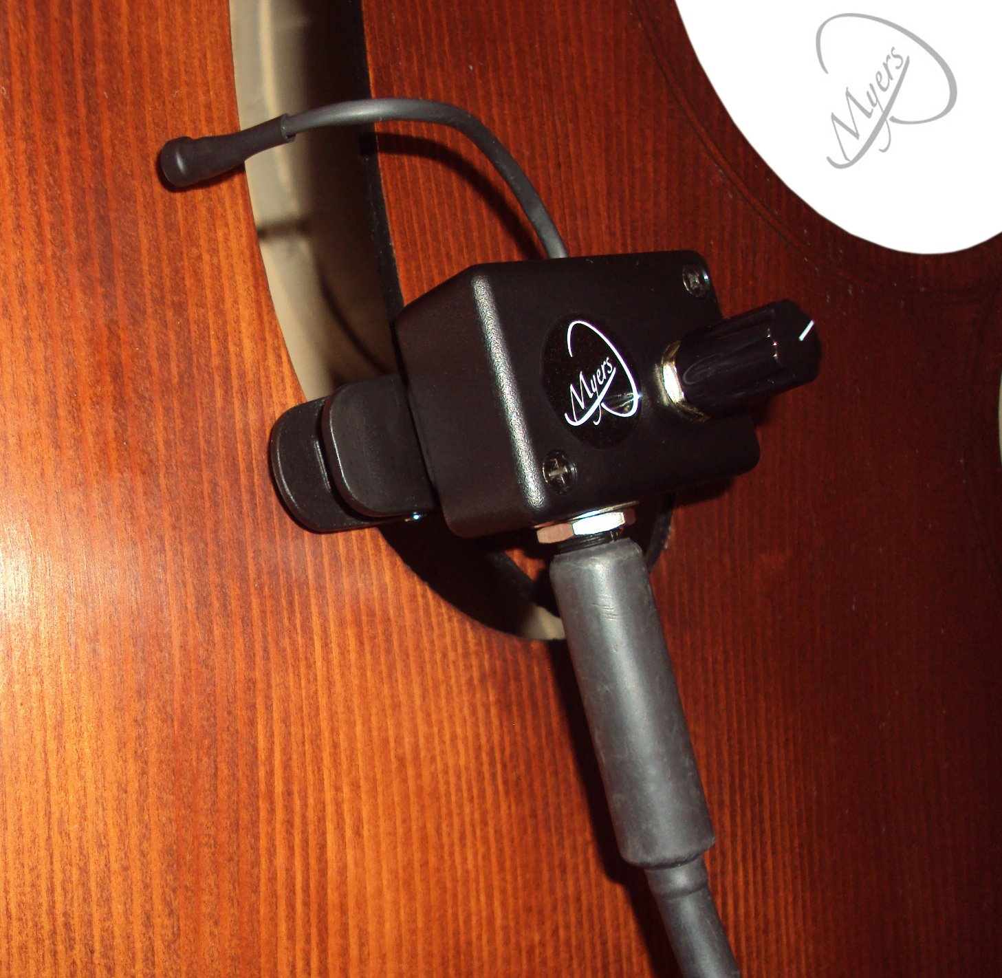 JAZZ UPRIGHT BASS MICROPHONE with 6 FLEXIBLE MICRO-GOOSE NECK by Myers Pickups ~ See it in ACTION! Copy and paste: myerspickups.com, Upright Bass Microphone