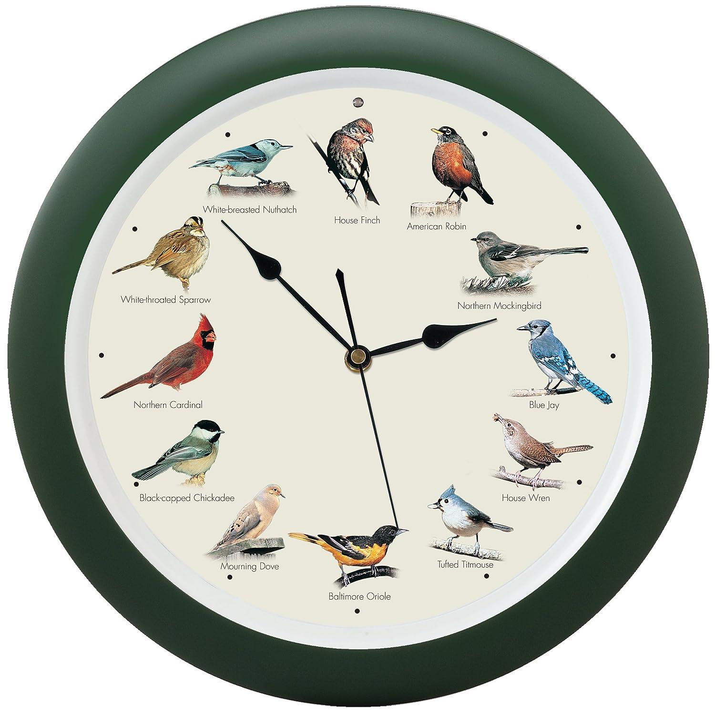 Mark Feldstein and Associates DLB023GR Original Singing Bird Clock 13 in Green inc