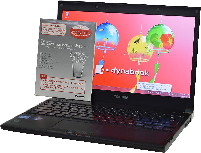 ノートパソコン 【Microsoft Office インストール済み】TOSHIBA dynabook R731/C 薄型軽量 13.3インチ CPU:Core i5-2.50GHz メモリ:8GB(最大メモリ搭載) HD:250GB WiFi対応無線LAN搭載 Windows7Pro64bit DtoDリカバリ仕様
