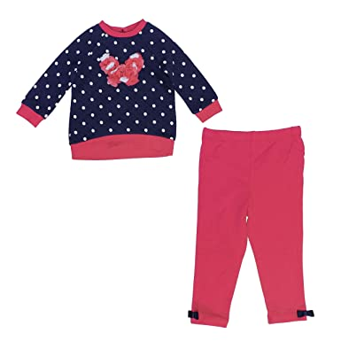 5e6188873a3b1 Amazon.com: Little Me Sweater and Legging 2 Piece Set for Girls ...