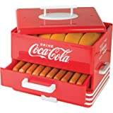 Nostalgia HDS248COKE Large Coca-Cola Diner-Style Steamer, 24 Hot Dogs and 12 Bun Capacity, Perfect For Breakfast…