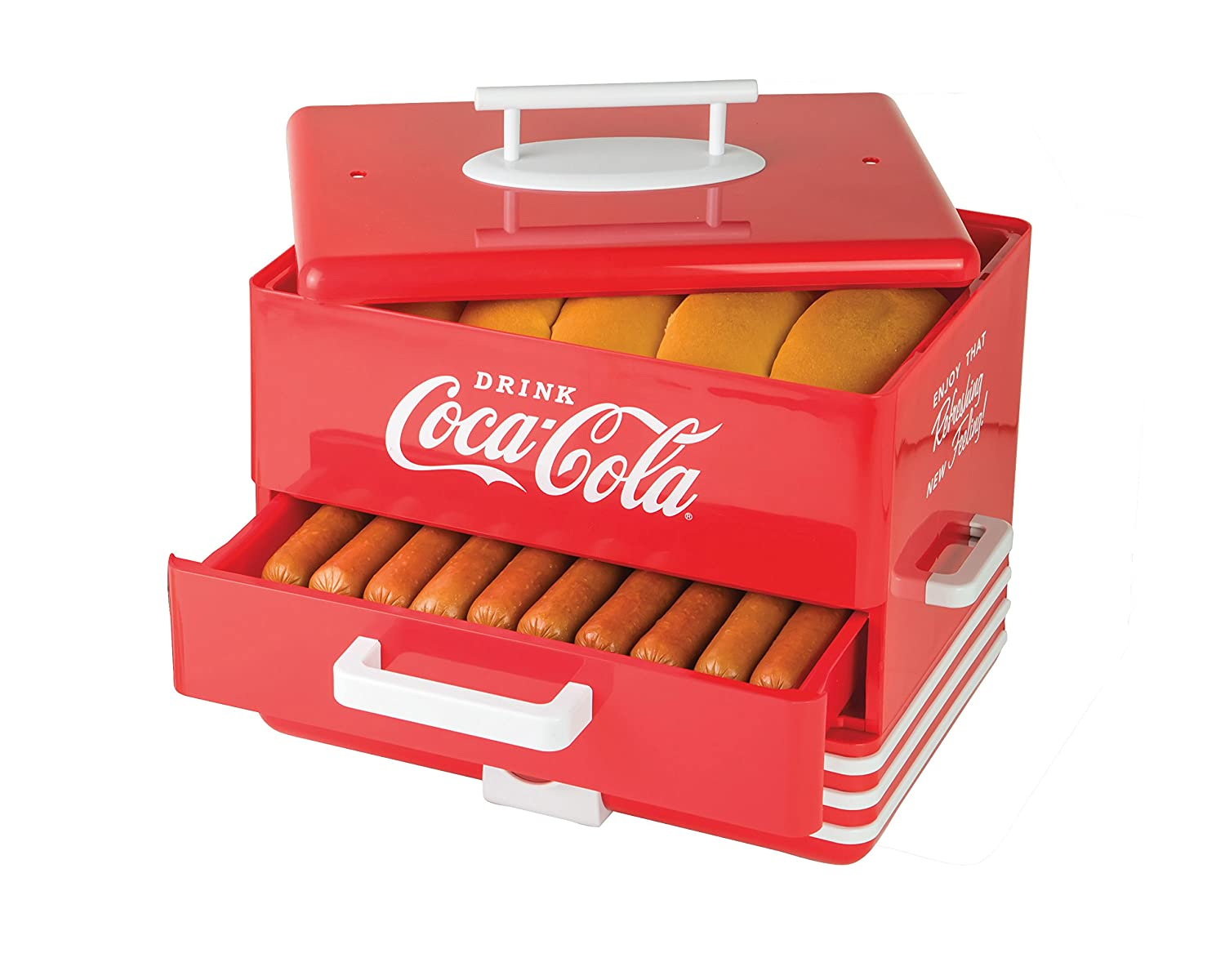 Nostalgia HDS248COKE Extra Large Coca-Cola Hot Dog Steamer Nostalgia Products