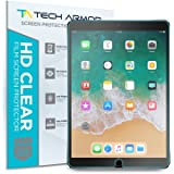 Tech Armor High Definition HD Clear Film Screen Protector Designed for Apple iPad Air 3 (2019), iPad Pro 10.5 inch [NOT Glass] - Full Coverage, Ultra-Thin, Scratch Resistance - [2-Pack]