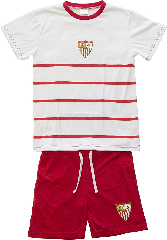Sevilla CF 06PIJ10-2X Pijama Corto, Blanco, XXL: Amazon.es: Deportes y aire libre