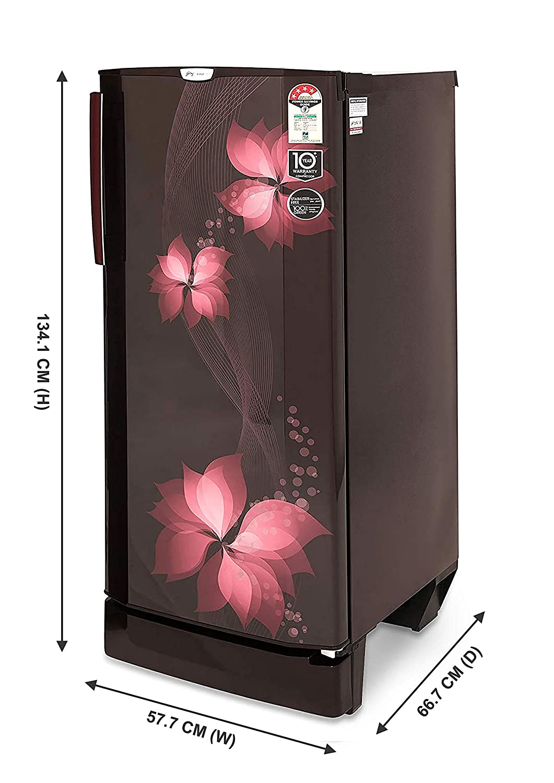 Godrej 210 L 4 Star   2019   Direct Cool Single Door Refrigerator  R D EDGEPRO 210CT 4.2 W Bz, Wine Breeze  Refrigerators