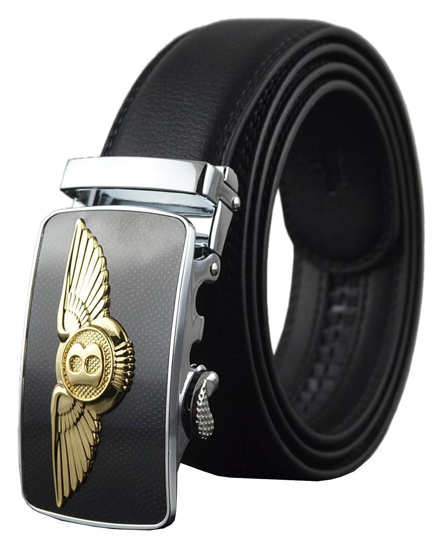 QISHI YUHUA PD Mens New Fashion Top Quality Leather Belt Buckles 3.6cm Width