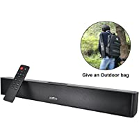 Wireless Sound Bar Outdoor Portable Bluetooth Waterproof IPX5 Speakers Powerful Bass Soundbar 21 Inch Home Audio System 10 hours Playing Subwoofer Speaker with Remote Control and Outdoor bag for PC Phones Tablets Gaming(Rechargeable Design)