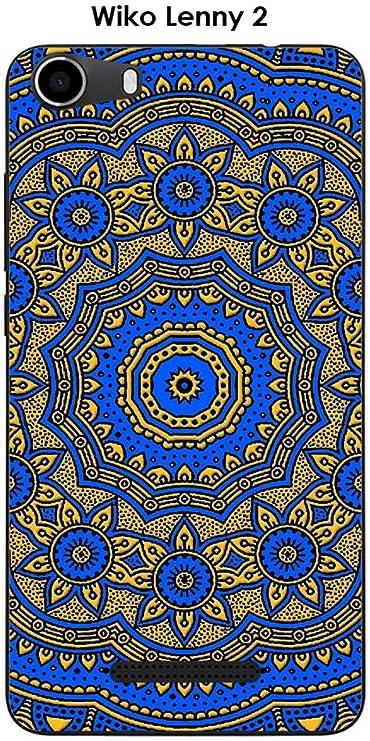 Onozo Coque Wiko Lenny 2 Design Mandala Rosace Bicolore Bleu ...