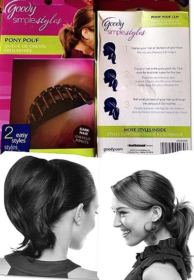Amazon Pack Of 40 Goody Simple Styles PONY POUF BrunetteDark New Pony Pouf