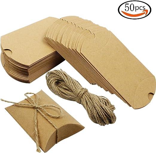 MINGZE 50 piezas Lindo Almohadas de Navidad Bolsas de papel Kraft ...