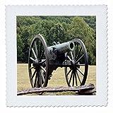 3dRose qs_43816_1 Civil War Cannon-Quilt Square, 10