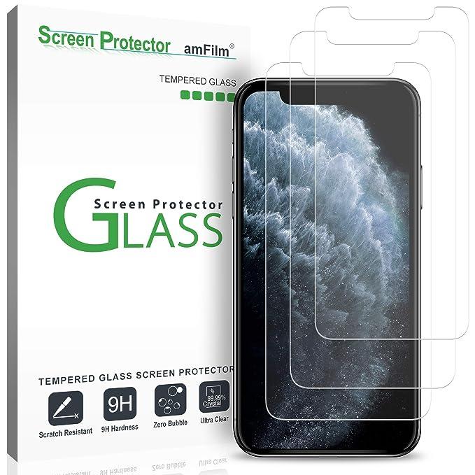 amFilm (3 Piezas) Protector de Pantalla iPhone 11 Pro (2019 ...